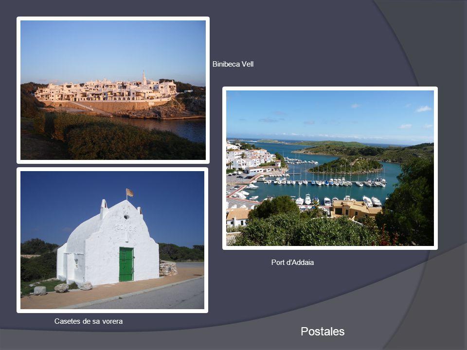 Postales Casetes de sa vorera Binibeca Vell Port d'Addaia