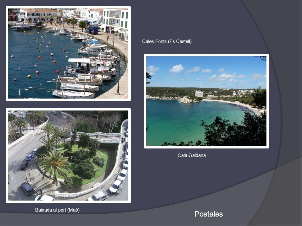 Postales Baixada al port (Maó) Cales Fonts (Es Castell) Cala Galdana