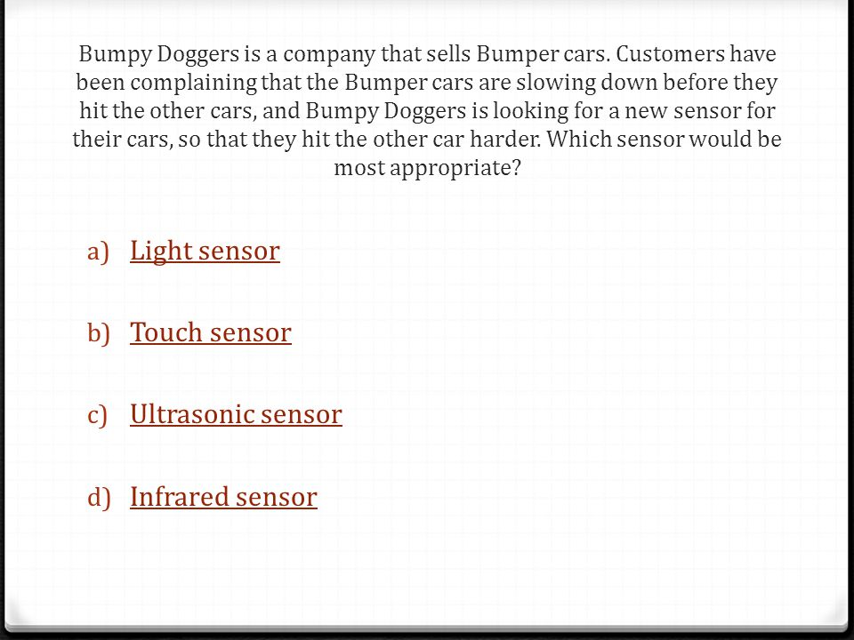 Bumpy Doggers is a company that sells Bumper cars.