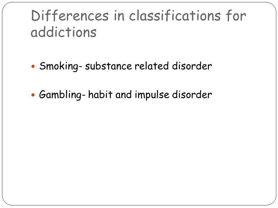 Explanations of gambling behaviour Biological accounts Genetic vulnerability (Eisen, Lin and Lyons, 99) Comings et al (01) argues the genetic vulnerability could be explained in terms of genes controlling the activity of DOPAMINE, SEROTONIN AND NOREPINEPHRINE Gamblers often report enjoying a high/buzz from the game/winning, problem gamblers have high levels of dopamine and norepinephrine in the anticipatory stage before non-problem gamblers Meyers et al (04) compared 2 groups of problem gamblers- one playing cards not for money; the other gambling for money.