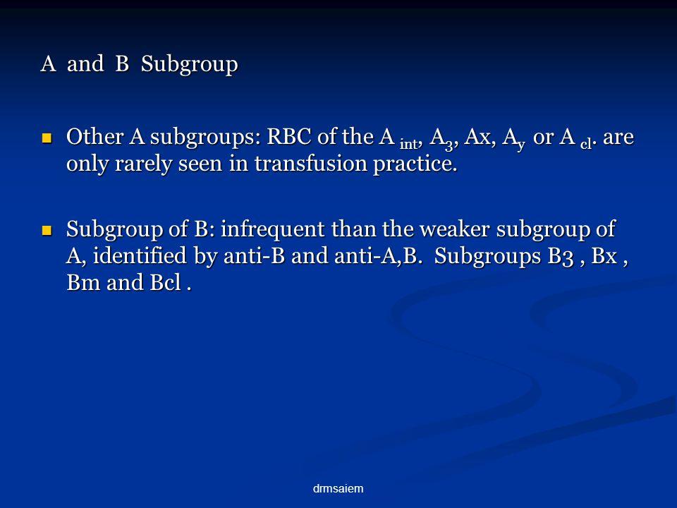 drmsaiem ABO Discrepancies Some examples of discrepancies Some examples of discrepancies  Example 1  Forward grouping: anti-A =O, anti-B =O, anti-AB= O  Reverse grouping: A1 cells= O, B cells =O  Blood group:  O  Possible discrepancy:  Missing Ab.