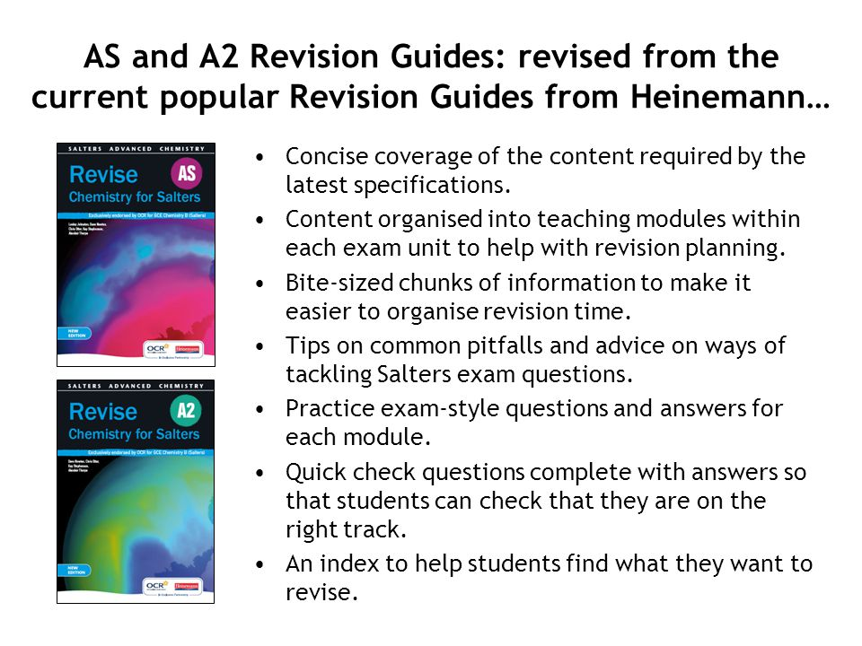 Concise coverage of the content required by the latest specifications. Content organised into teaching modules within each exam unit to help with revi