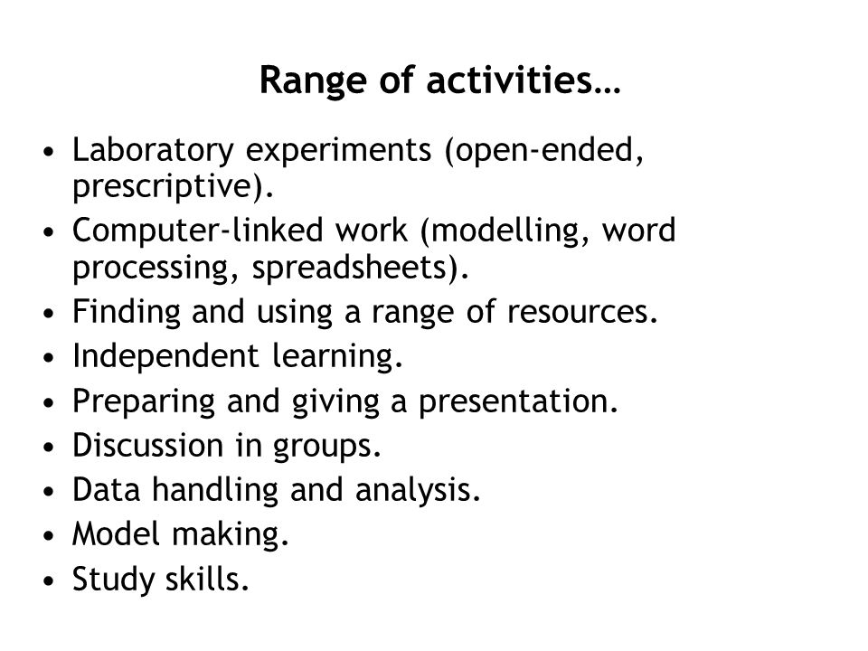 www.york.ac.uk/org/seg/salters/chemistry An additional resource for teachers, technicians and students, managed by the University of York Science Education Group.