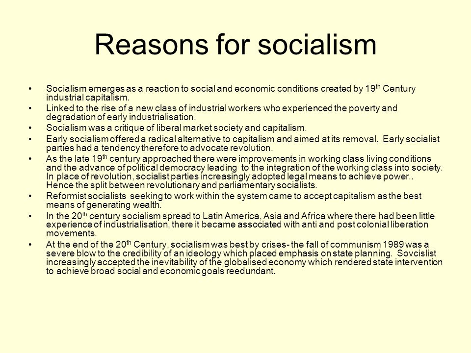 Why did ideas of evolutionary socialism develop.