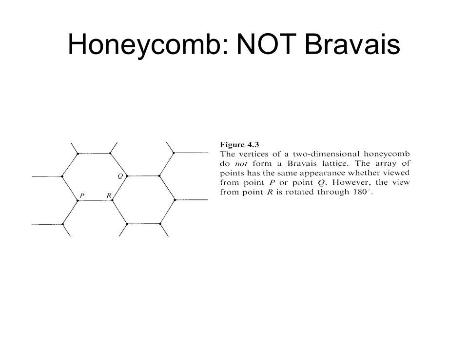 Honeycomb: NOT Bravais