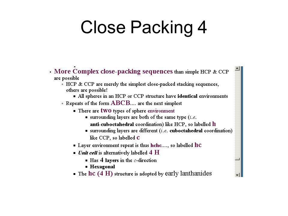 Close Packing 4
