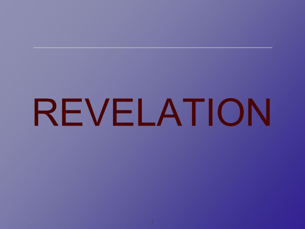 1 REVELATION