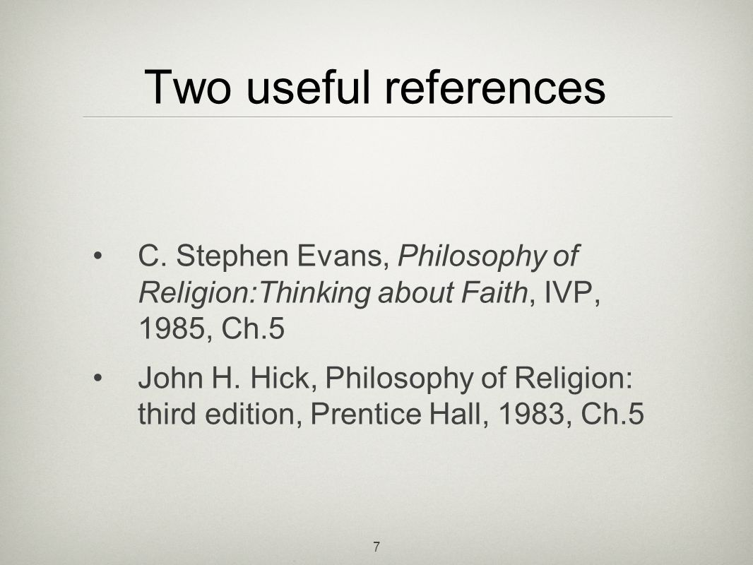 7 Two useful references C.