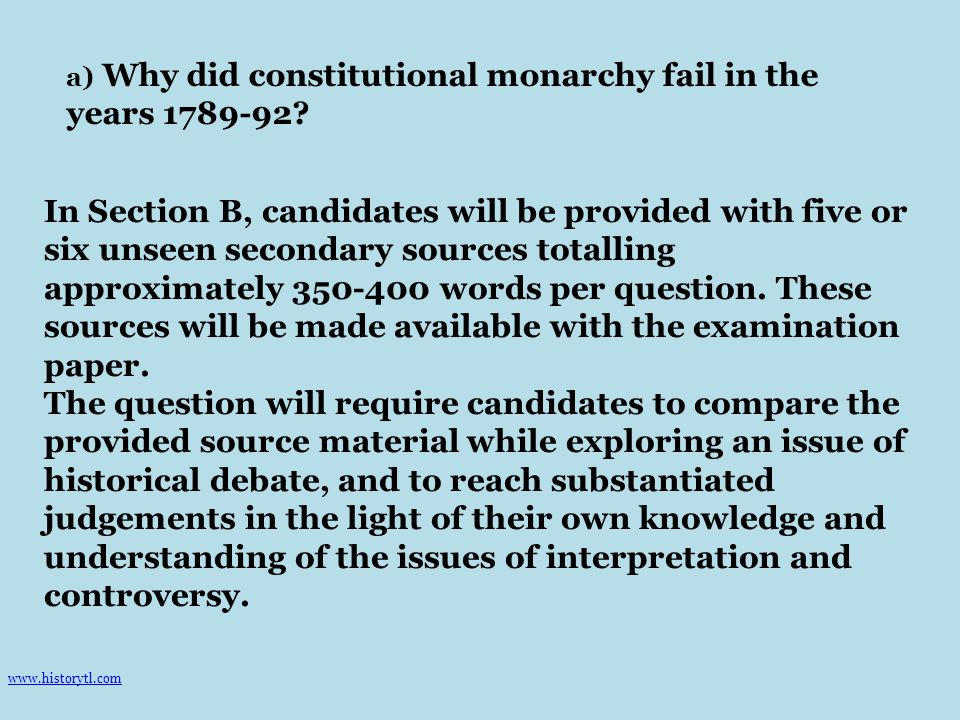 Why did the Constitutional Monarchy fail between October 1789 and August 1792 What was central to the breakdown of the constitutional monarchy of Louis XVI between October 1789 and January 1793.