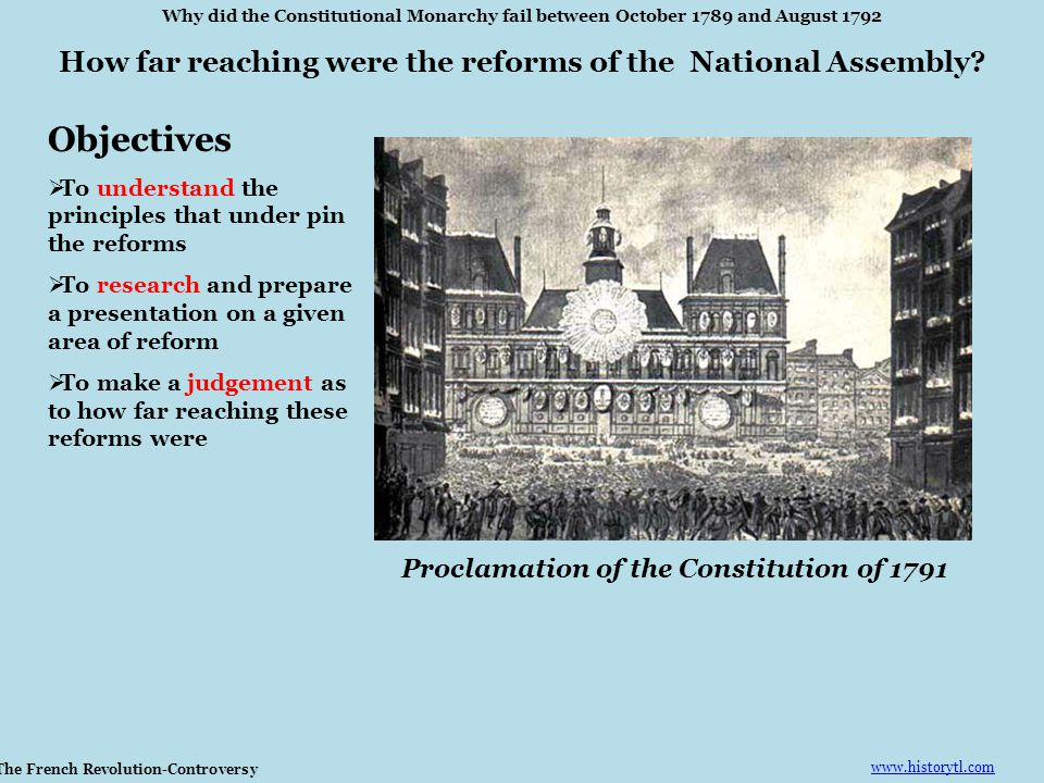 How far reaching were the reforms of the National Assembly.