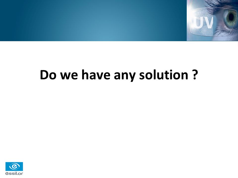 Do we have any solution ?
