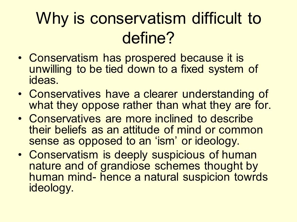 The New right Post 1945 pragmatic and paternalist ideas dominated conservatism in the western world.
