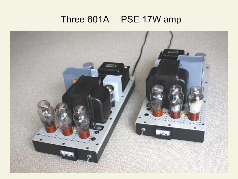 Three 801A PSE 17W amp