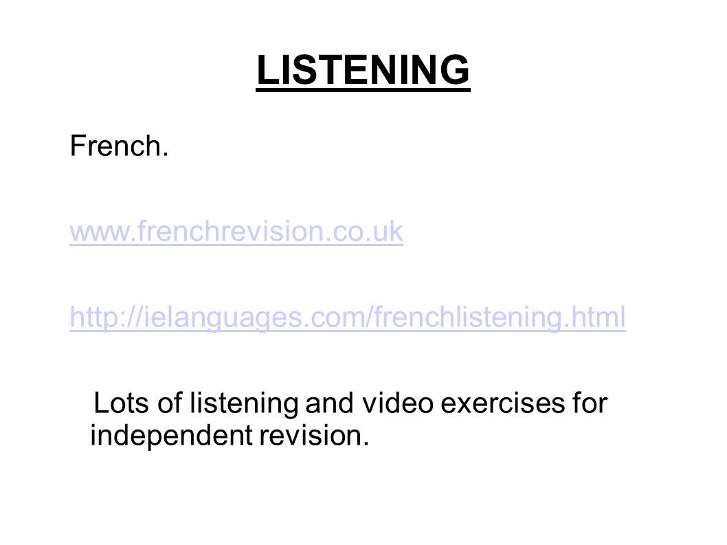 LISTENING French.