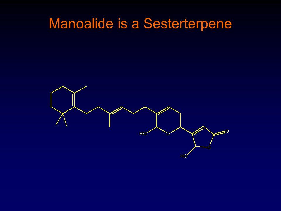 Manoalide is a Sesterterpene