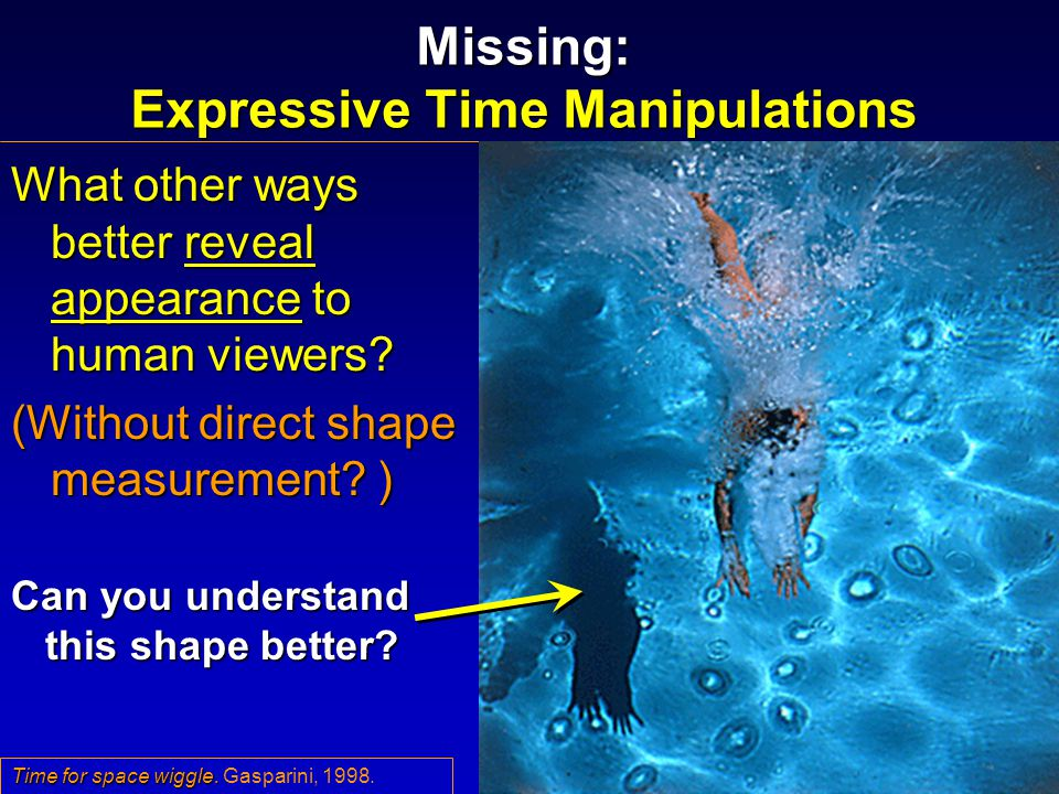 Missing: Expressive Time Manipulations What other ways better reveal appearance to human viewers.
