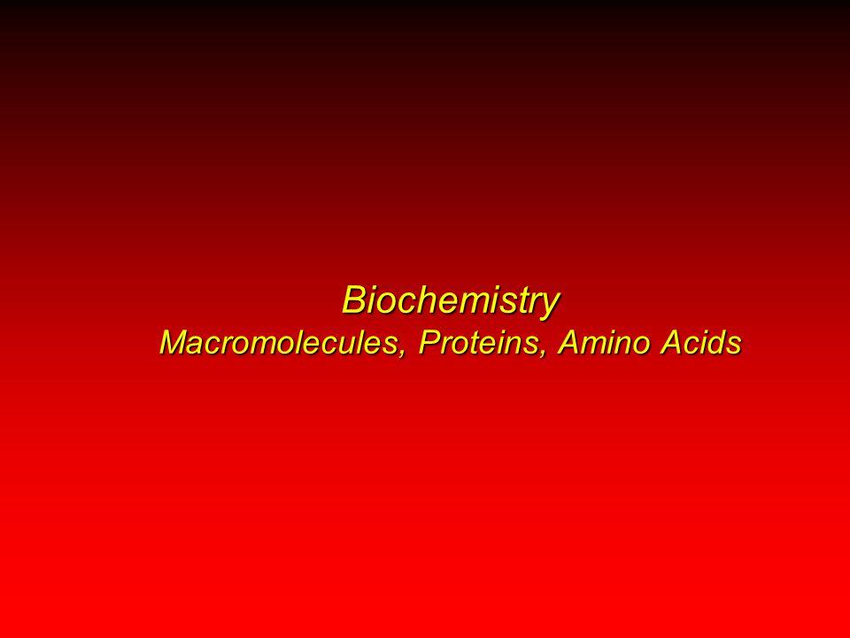 Biochemistry Macromolecules, Proteins, Amino Acids