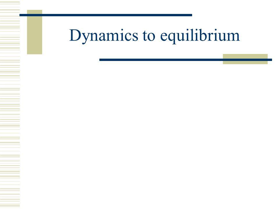 Dynamics to equilibrium