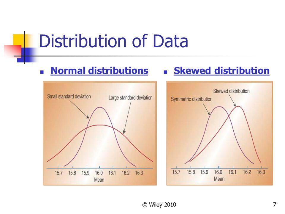 © Wiley 20107 Distribution of Data Normal distributions Skewed distribution