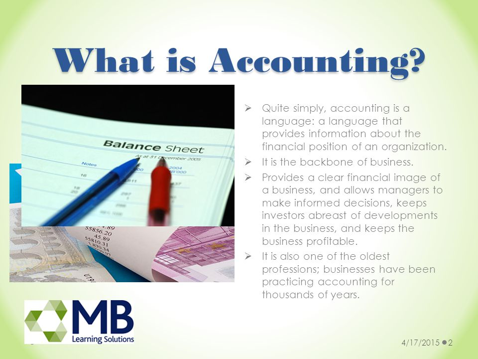 Why study A Level Accounting.