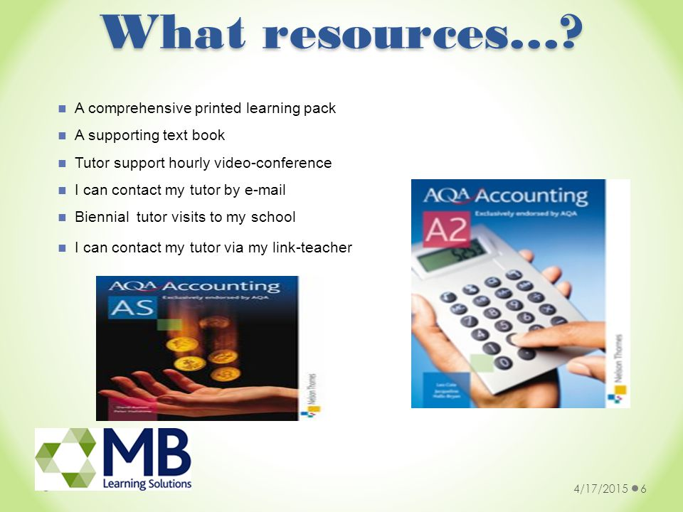 What resources….