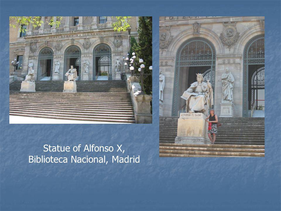 Statue of Alfonso X, Biblioteca Nacional, Madrid