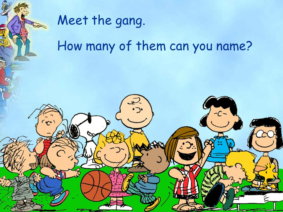 Meet the gang. How many of them can you name