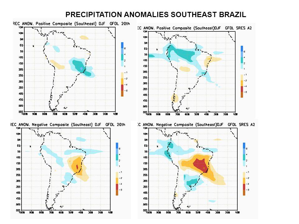 PRECIPITATION ANOMALIES SOUTHEAST BRAZIL