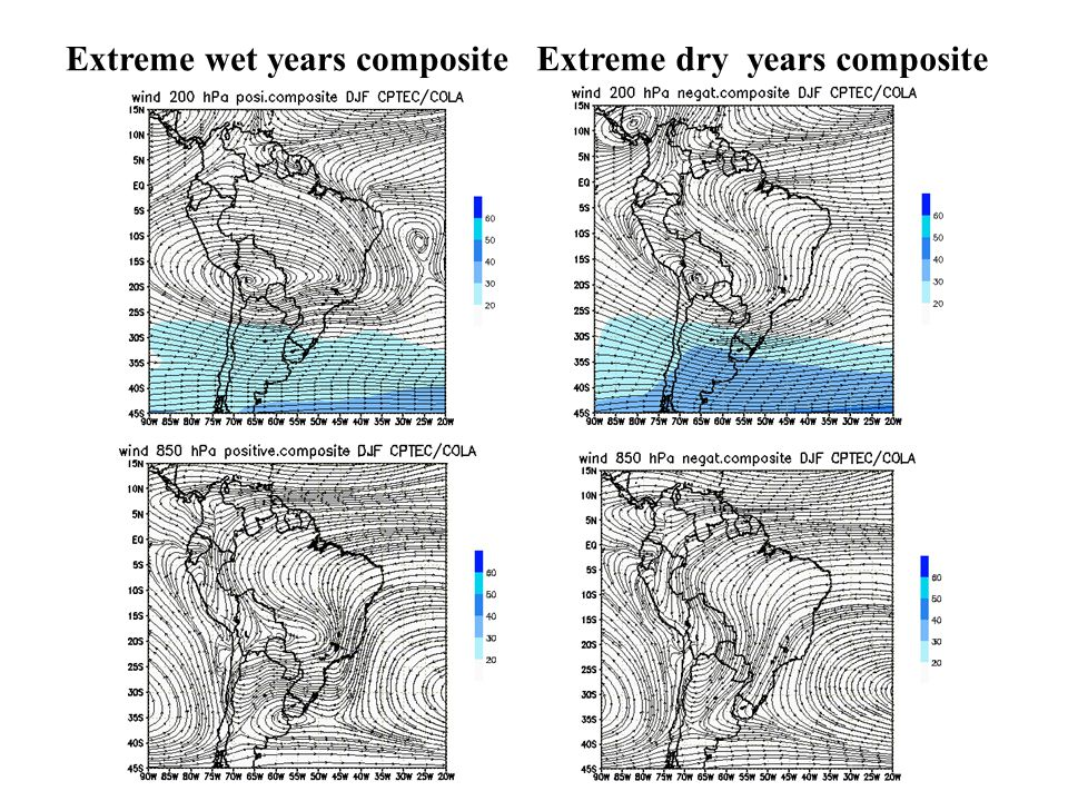 Extreme wet years compositeExtreme dry years composite