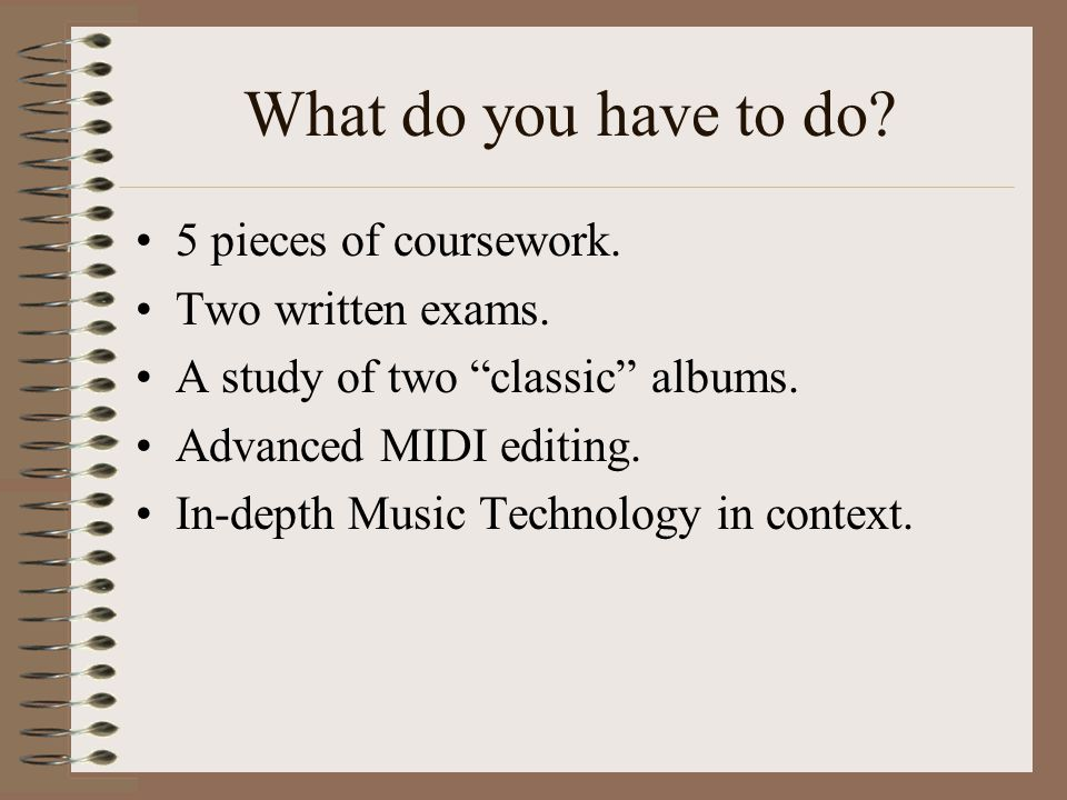Aims To find out what is required for A2 Tech. To look at coursework requirements.