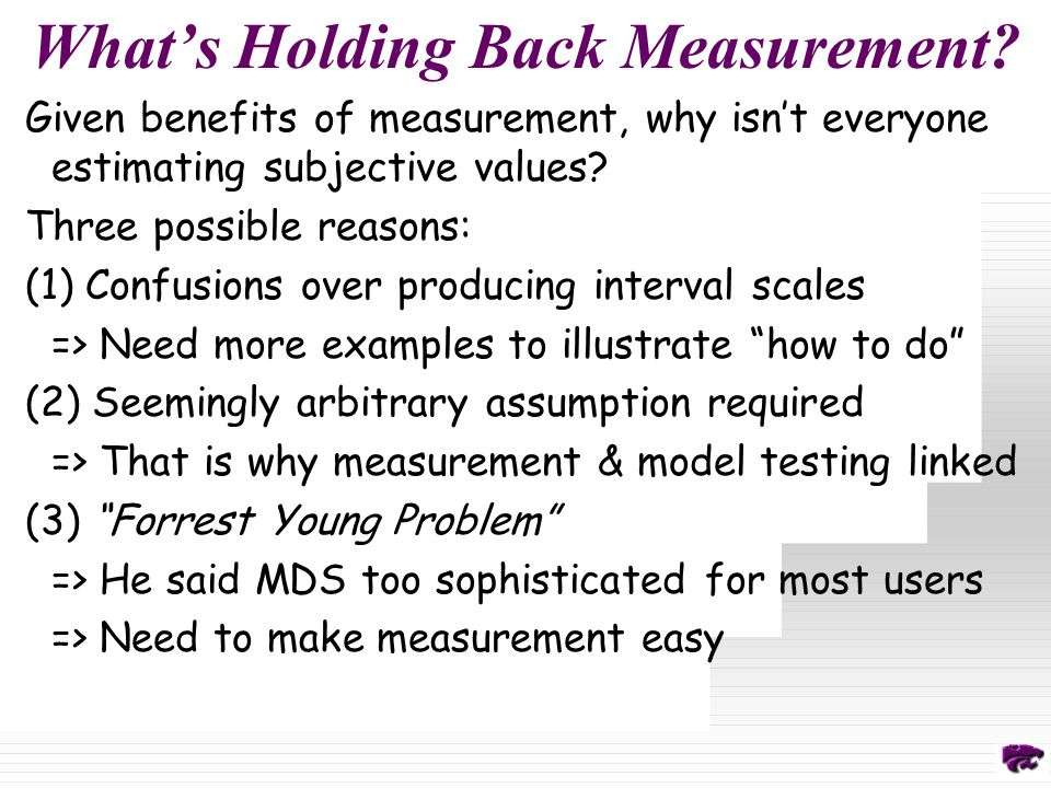 What's Holding Back Measurement.