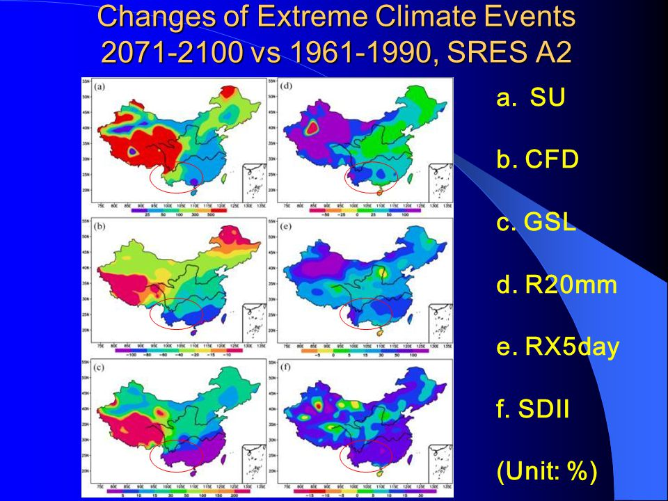 Extreme Climate Events Criteria-2 CriteriaDefinition RX5daymaximum precipitation amount for the 5-day interval SDII ratio of the daily precipitation a