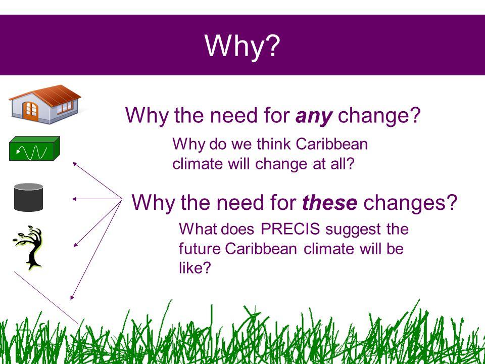 Conclusions PRECIS offers a glimpse into the future Caribbean Climate.
