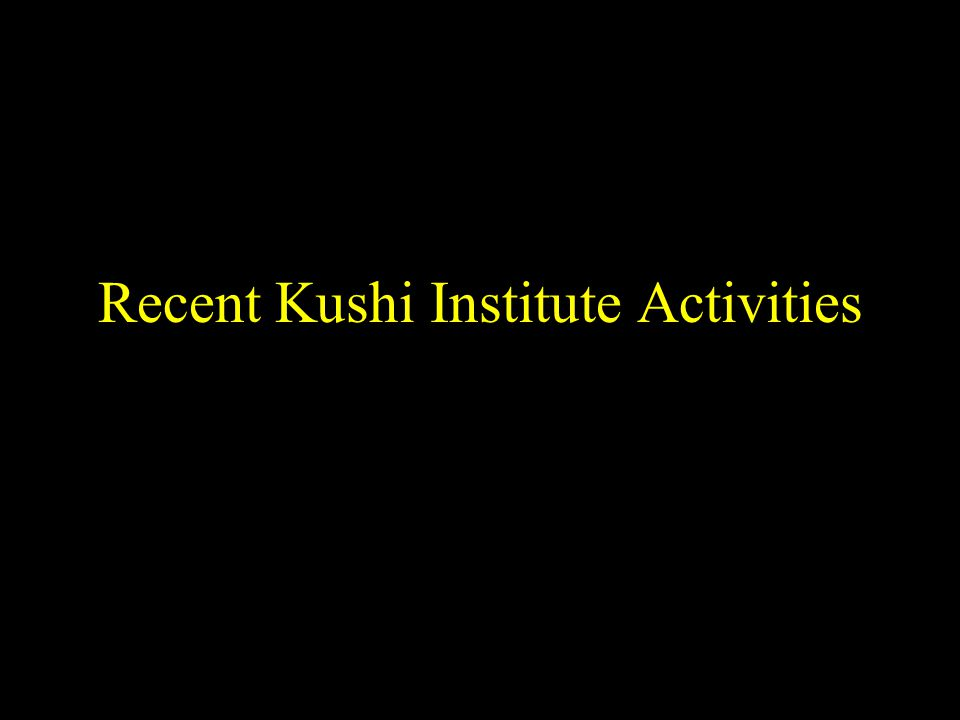 Recent Kushi Institute Activities
