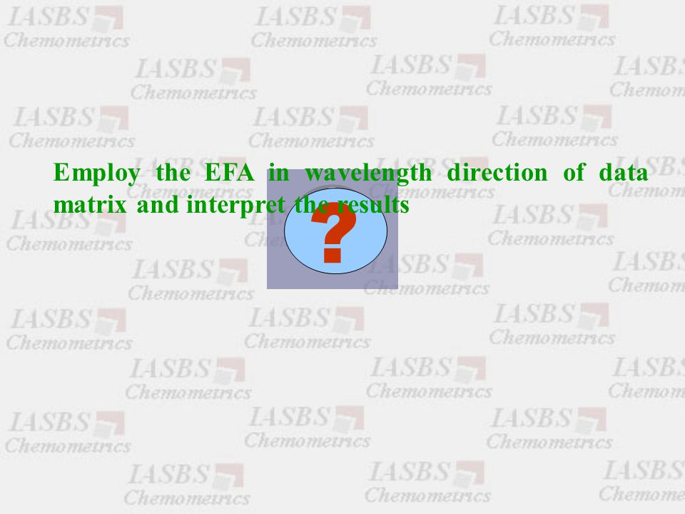 Employ the EFA in wavelength direction of data matrix and interpret the results