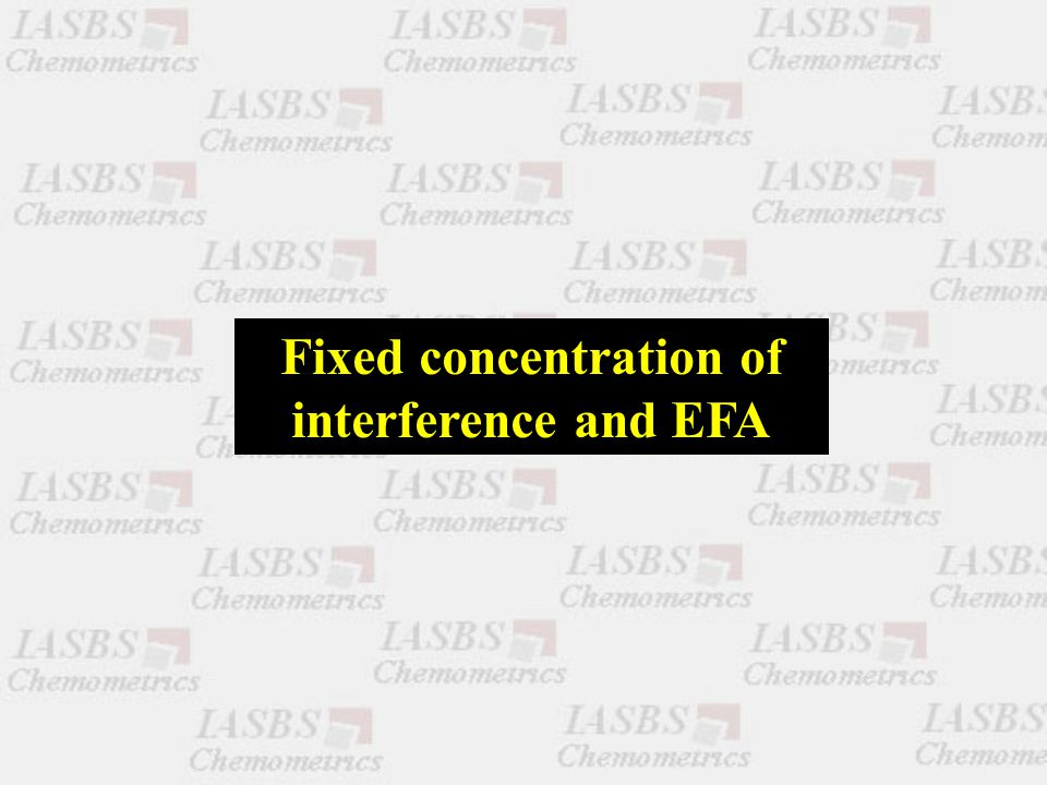 Fixed concentration of interference and EFA