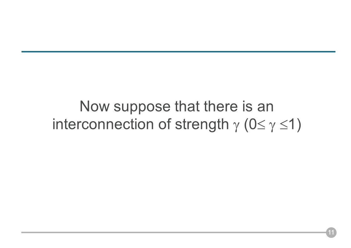 Now suppose that there is an interconnection of strength  (0    1) 11