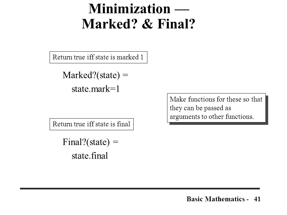 41Basic Mathematics - Minimization — Marked. & Final.
