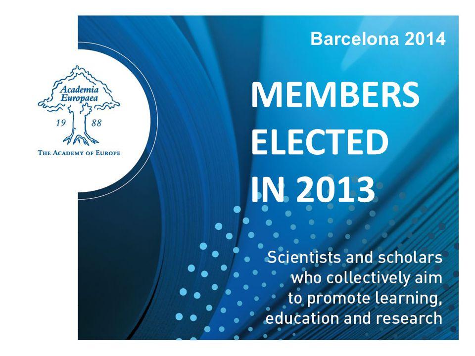 MEMBERS ELECTED IN 2013 Barcelona 2014
