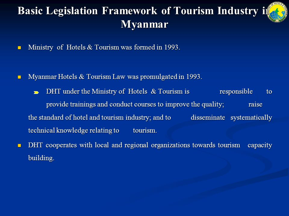 Ministry of Hotels & Tourism was formed in 1993.Ministry of Hotels & Tourism was formed in 1993.