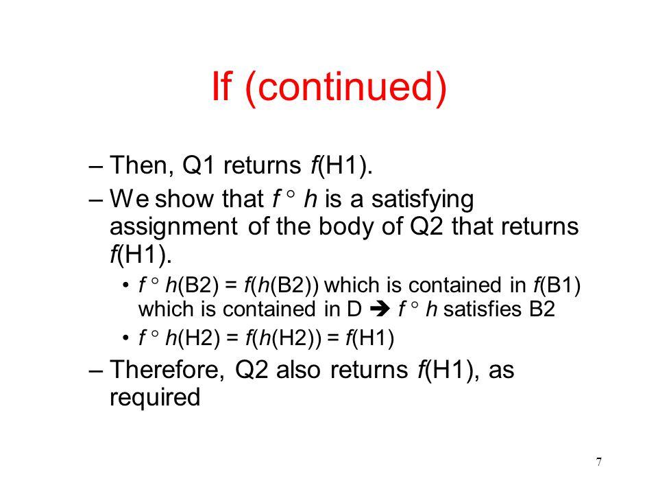 7 –Then, Q1 returns f(H1).