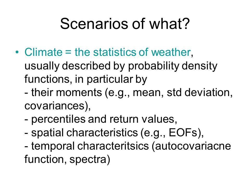 Scenarios of what.