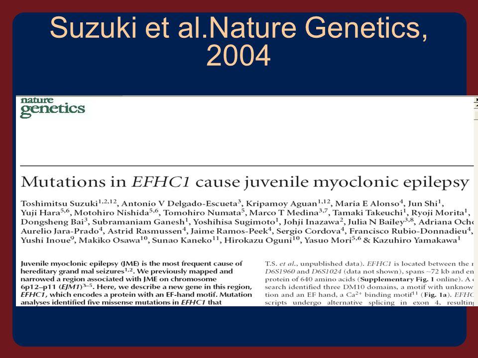 Suzuki et al.Nature Genetics, 2004