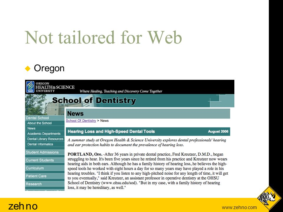 www.zehno.com zehno Not tailored for Web  Oregon