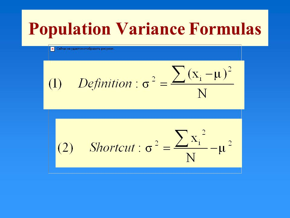 Population Variance Formulas