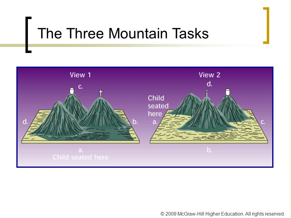 © 2009 McGraw-Hill Higher Education. All rights reserved. The Three Mountain Tasks