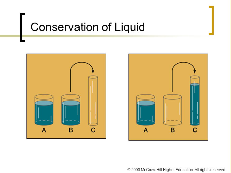 © 2009 McGraw-Hill Higher Education. All rights reserved. Conservation of Liquid