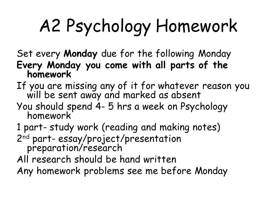 Psychology homework