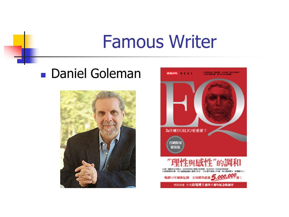 Famous Writer Daniel Goleman