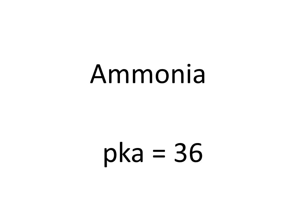 Ammonia pka = 36